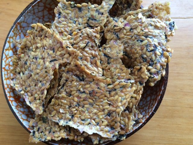 Healthy Snack Ideas: Flaxseed Crackers
