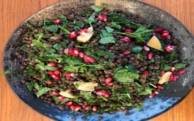 Lentil & Pomegrante Salad