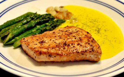 Salmon & Asparagus with Marinade