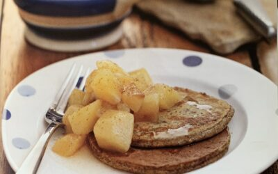 Chia Pancakes with Pear Compote